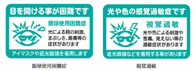 眼球使用困難症と視覚過敏カード